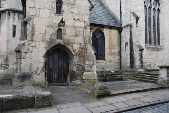 St Mary De Lode church in Gloucester UK - Stock Photo - Images
