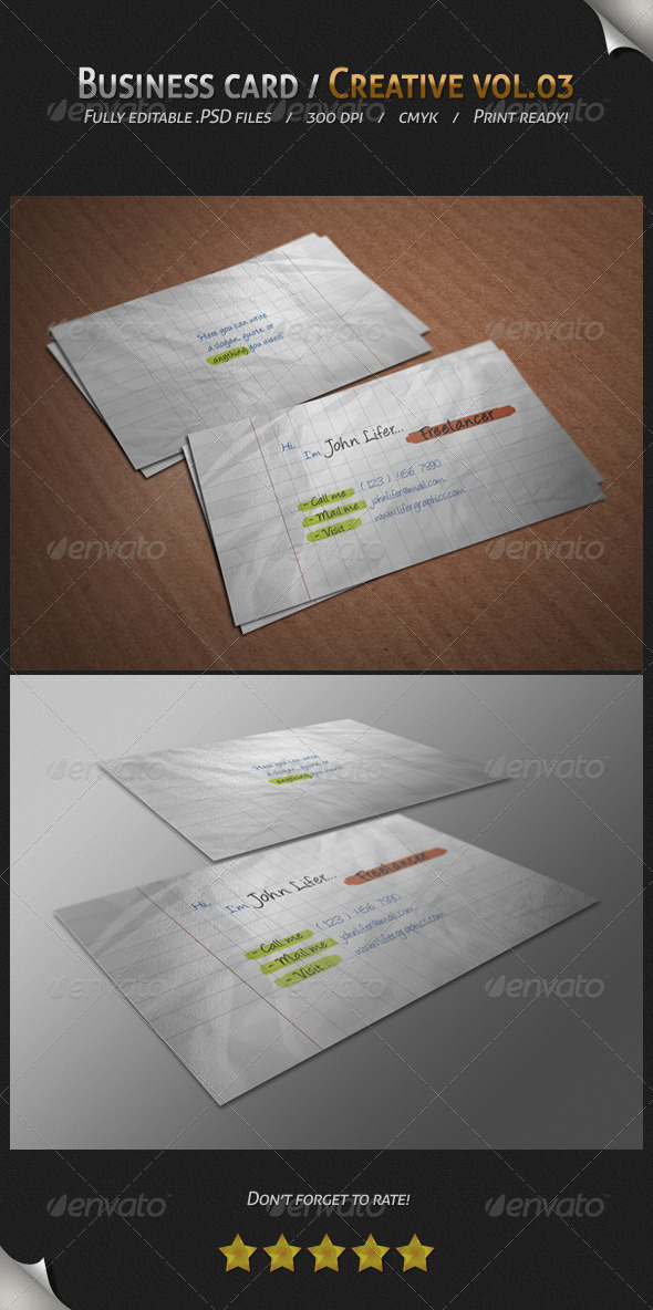 GraphicRiver Business Card Creative Vol.03 4443950