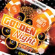 Golden Night Party Flyer Template - GraphicRiver Item for Sale