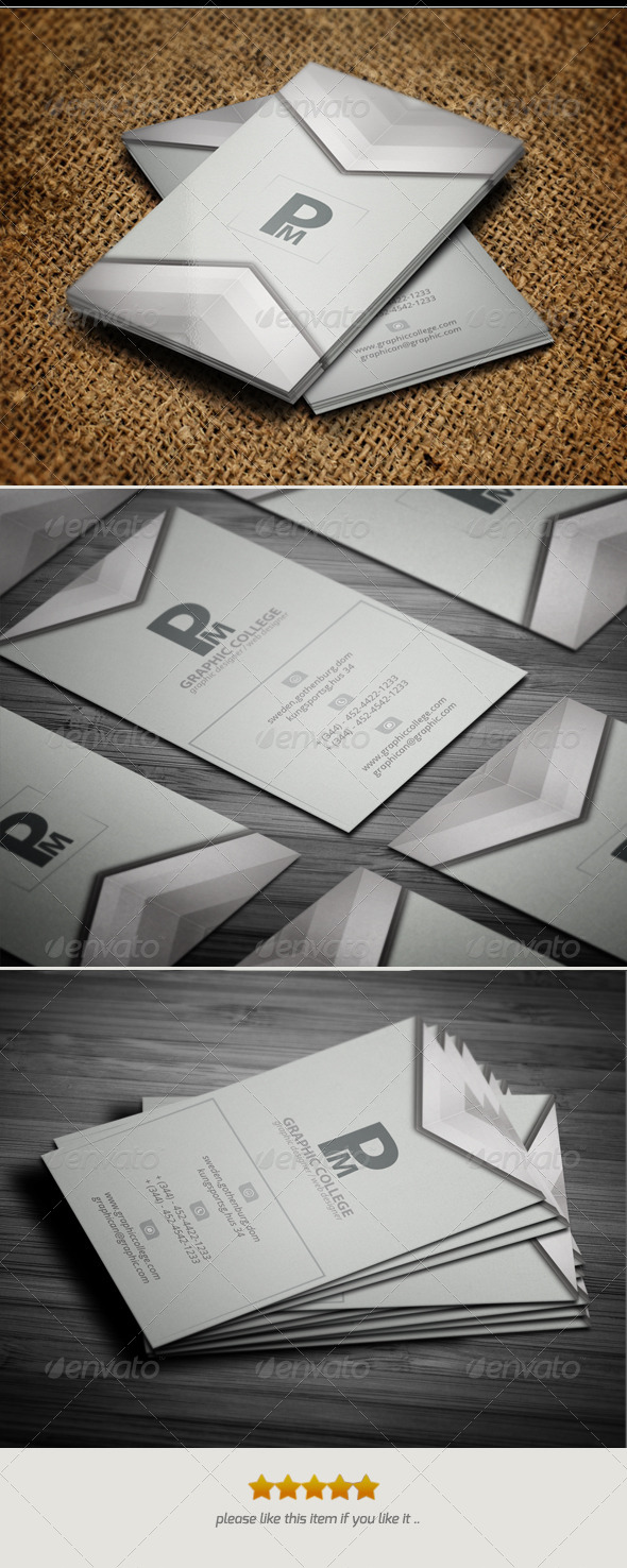 GraphicRiver Creative Pm Business Card.V 4346364