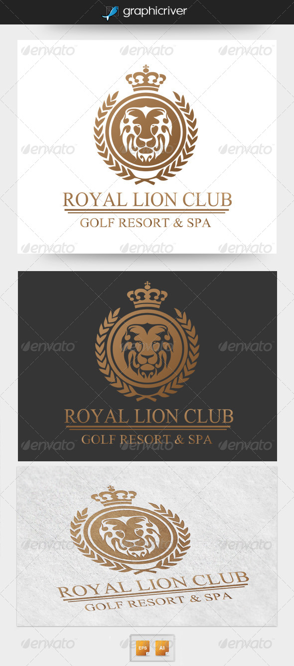GraphicRiver Royal Lion Club Logo 4367585
