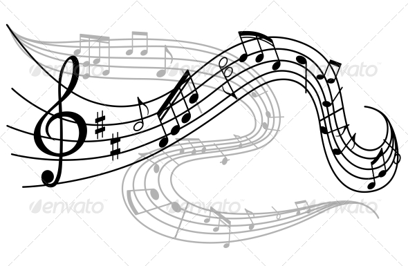GraphicRiver Waves of Musical Notes 4445162