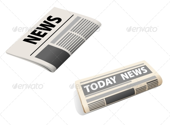 GraphicRiver Two Newspaper Icons 4445248