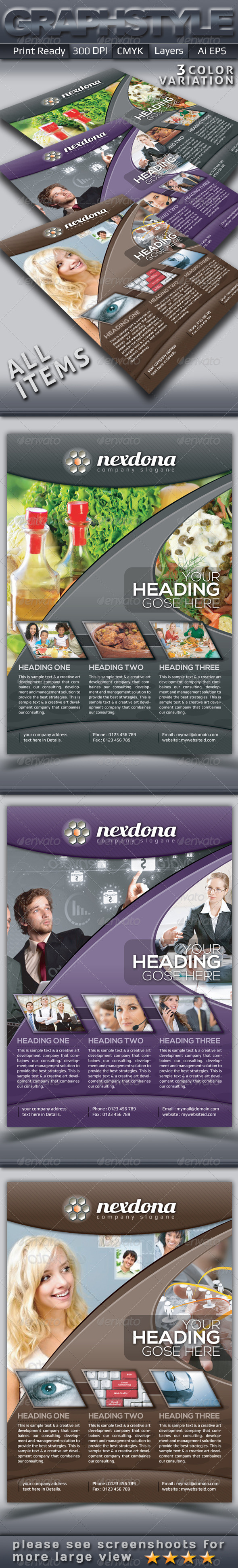 GraphicRiver Nexdona Business Flyers Adds 4445592