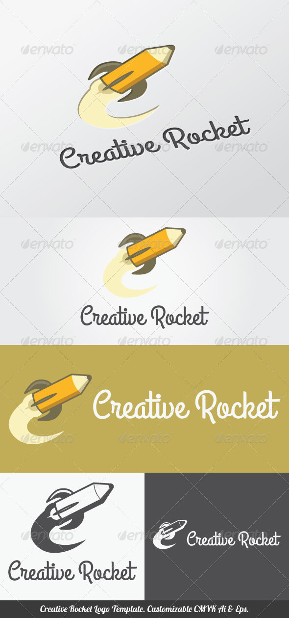 GraphicRiver Creative Rocket Logo Template 4445637