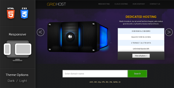 GridHost Hosting Theme - Hosting Technology
