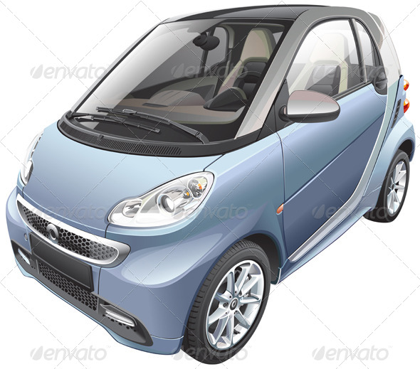Modern Subcompact Car - Vectors
