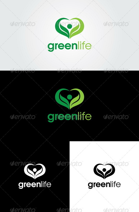 GraphicRiver Green Life Logo Template 4446224