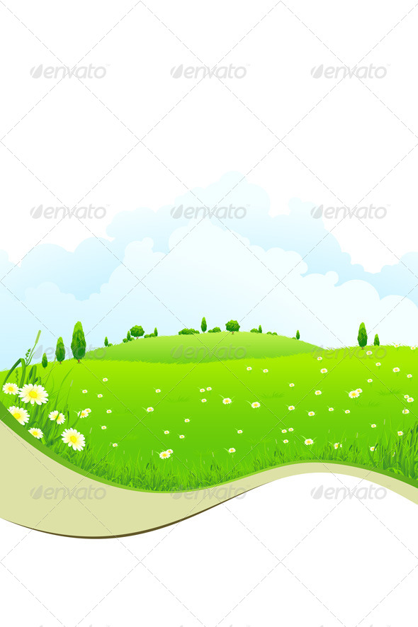 GraphicRiver Green Landscape 4446555