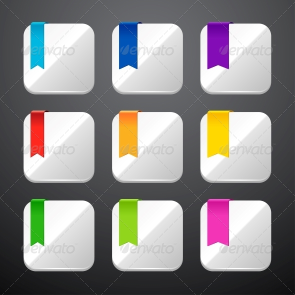 GraphicRiver Set of the App Icons with Ribbons 4446715
