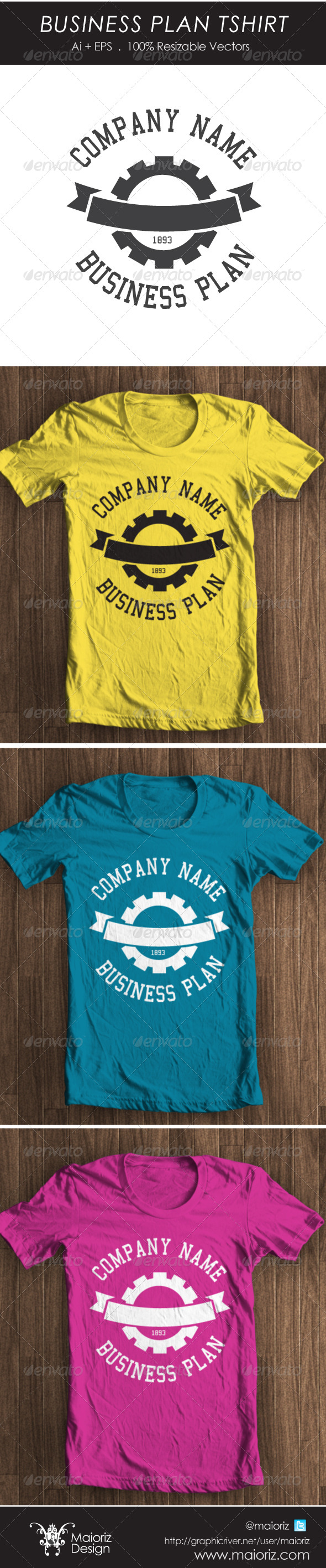 GraphicRiver Business Plan Tshirt 4447824