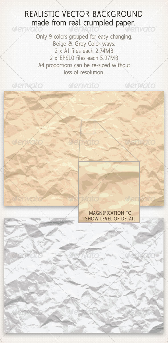GraphicRiver Crinkled Crumpled Paper 4448997