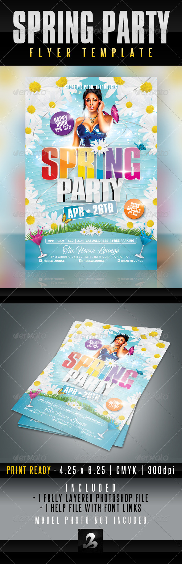 GraphicRiver Spring Party Flyer Template 4347373
