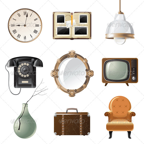 GraphicRiver Retro Objects 4449682
