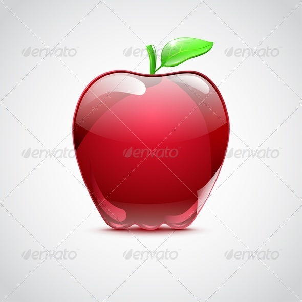 GraphicRiver Big Red Apple From Glass 4450622