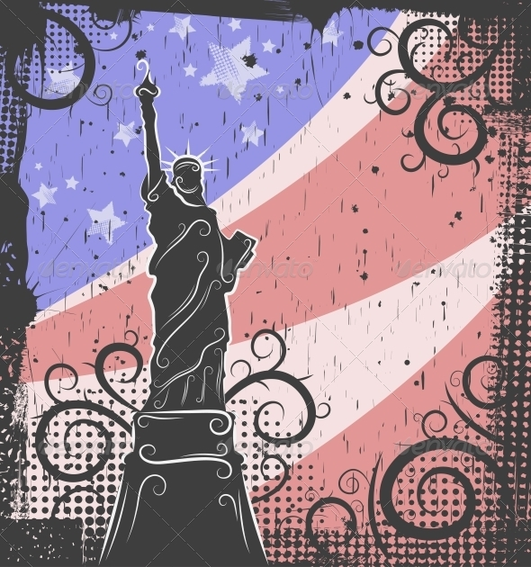 GraphicRiver Statue of Liberty Background 4451393
