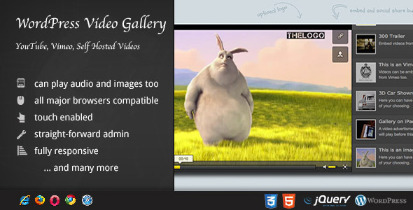 Video Gallery Wordpress Plugin /w YouTube, Vimeo  - CodeCanyon Item for Sale