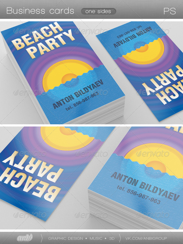 Beach Party - Creative Business Cards
