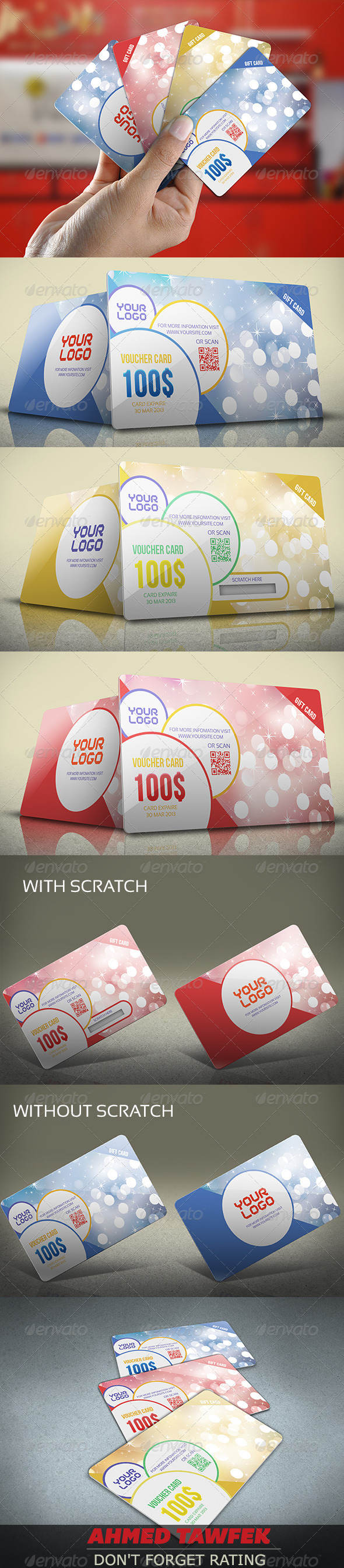 GraphicRiver Gift Voucher Card Vol 6 4452211