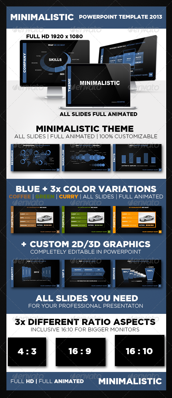 GraphicRiver Minimalistic POWERPOINT TEMPLATE 4453200
