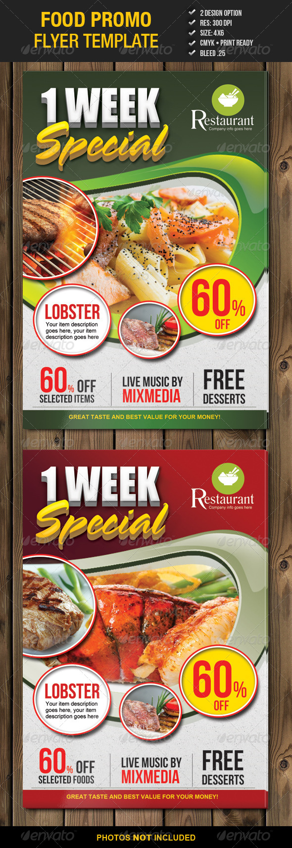 Food Promo Flyer Template 2 - Restaurant Flyers