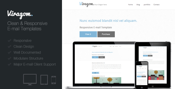 ThemeForest Viragom Responsive E-mail Template 4453898