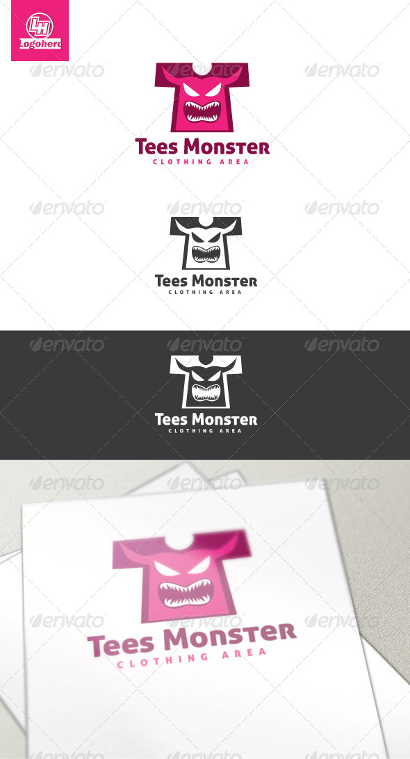 GraphicRiver Tees Monster Logo Template 4454367