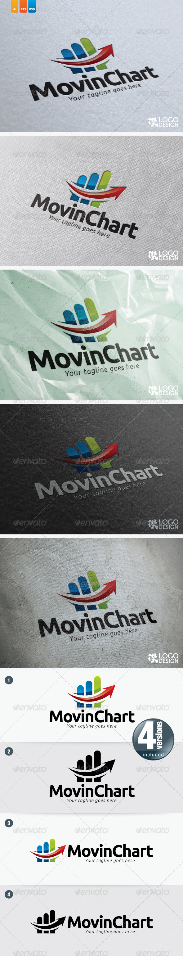 Moving Chart - Symbols Logo Templates