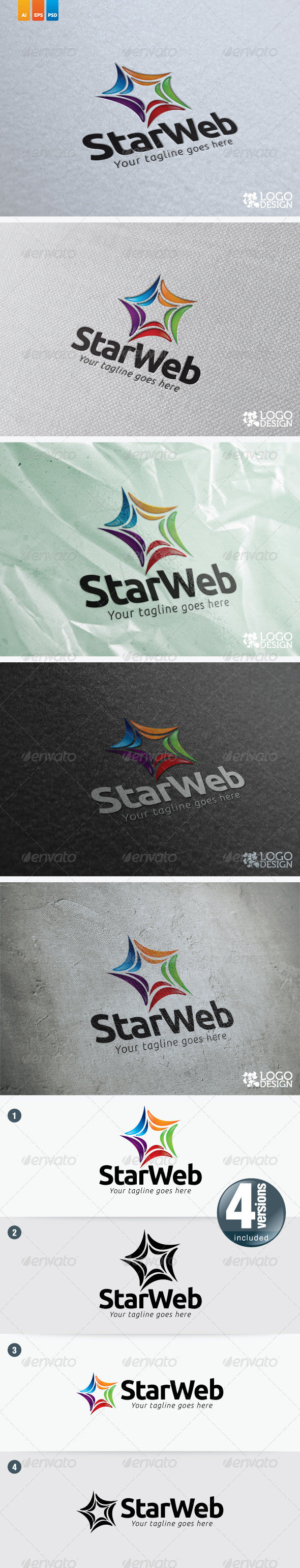 Star Web - Objects Logo Templates