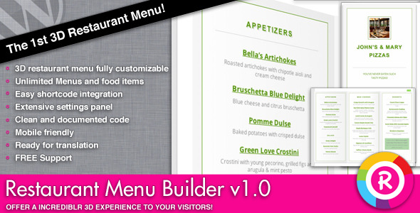 Restaurant Menu Builder - CodeCanyon Item for Sale
