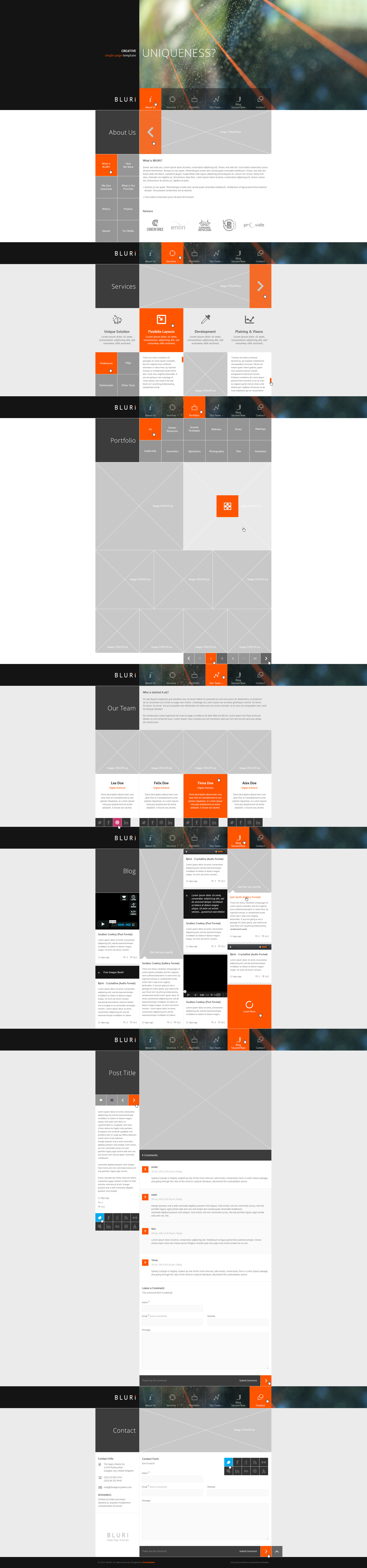 BLURI Single Page HTML Template