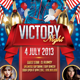 Victory Night Flyer Template - GraphicRiver Item for Sale