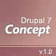 Concept: Responsive Drupal 7 Premium Theme - ThemeForest Item for Sale
