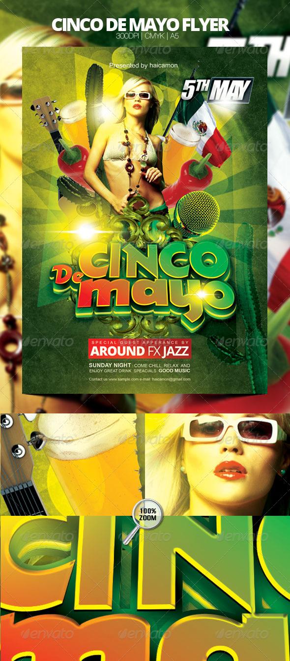 GraphicRiver Cinco De Mayo Flyer 4457002