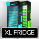 XL Fridge Mockup with Energy Drink Soda Cans - GraphicRiver Item for Sale