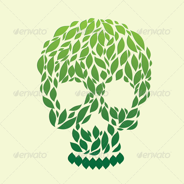GraphicRiver Leaf Skull 4457120