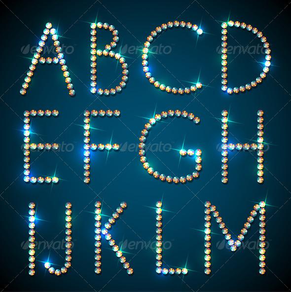 GraphicRiver Shiny Diamond Alphabet Letters 4457313