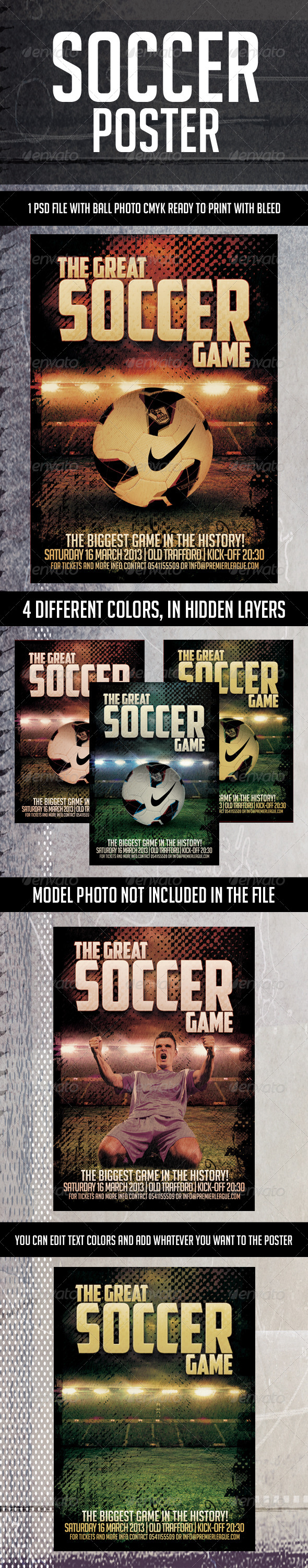 GraphicRiver Soccer Poster 4457848