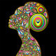 Woman Psychedelic Art Design Portrait - GraphicRiver Item for Sale