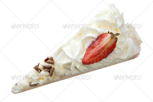 Strawberry Cream Cake - Stock Photo - Images