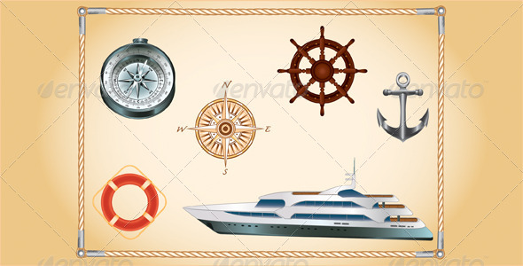 GraphicRiver Marine Set 4395303