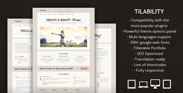 Tilability - Responsive Health & Beauty WP theme - Health & Beauty Retail