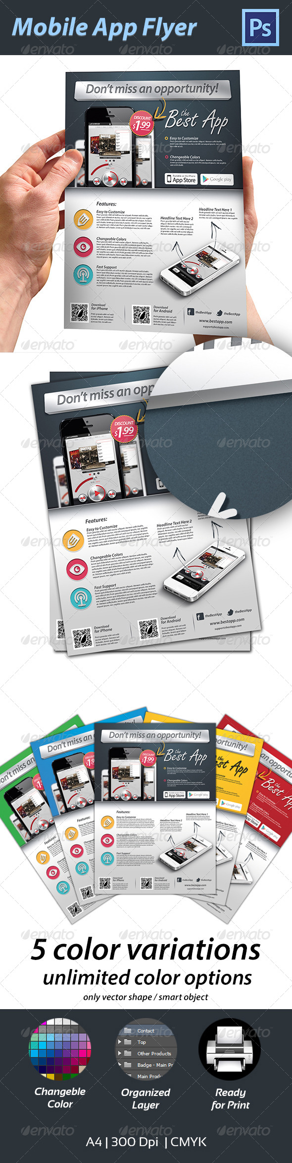 GraphicRiver Mobile App Flyer 4459153