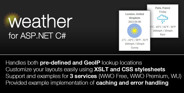 CodeCanyon Weather Module for ASP.NET 4461928