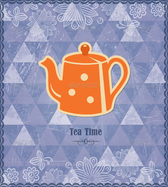 GraphicRiver Tea Time Vintage Pattern 4462275