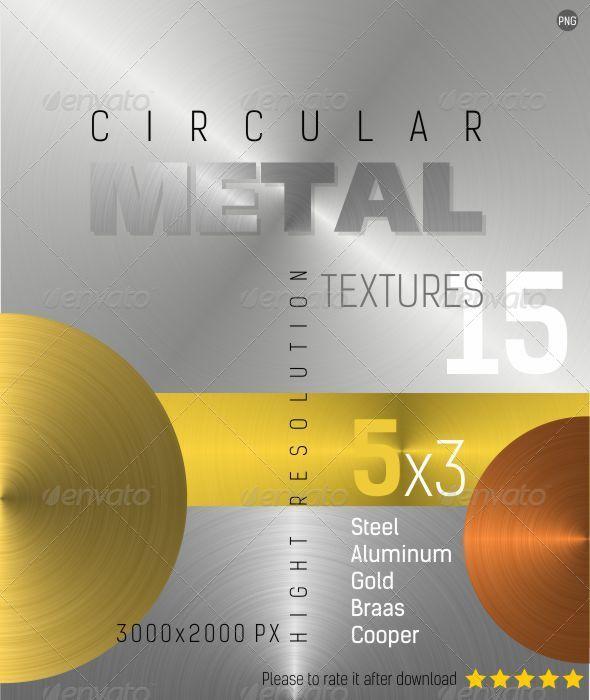 GraphicRiver Circular Metal Textures 4462752