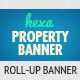 Hexa Property Roll-Up Banner - GraphicRiver Item for Sale