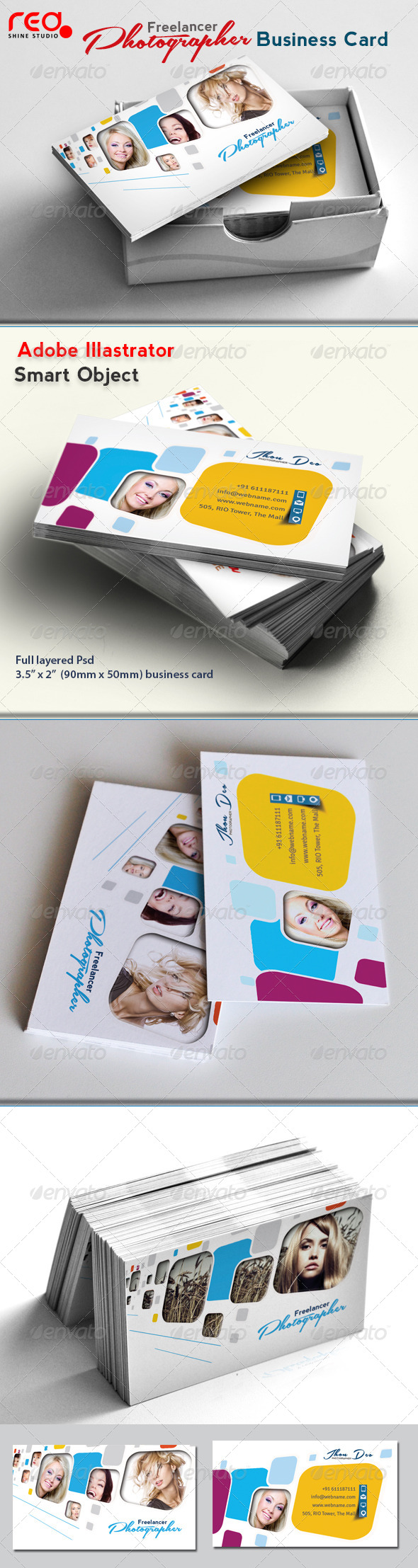 Freelance Photographer Business Card - 02 - Creative Business Cards