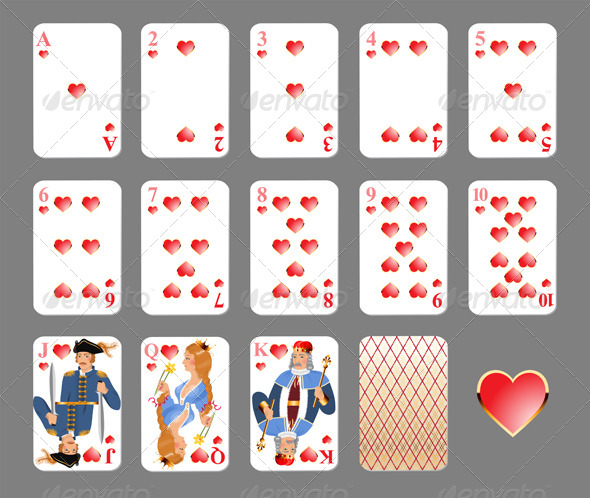 GraphicRiver Playing Cards Heart Suit 4463372