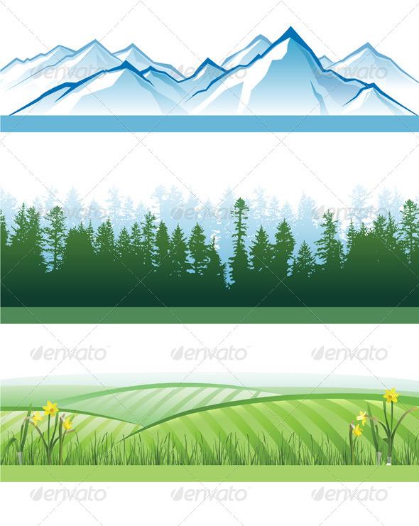GraphicRiver Landscape Banners 4463380